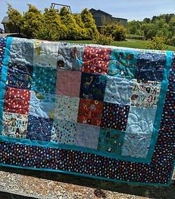 Handmade Baby Quilt-Hello World-Quilt with Map of World Quil