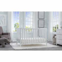 Delta Children Heartland 4-in-1 Convertible Crib, Bianca Whi