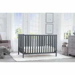 Delta Children Heartland 4-in-1 Convertible Crib, Charcoal G