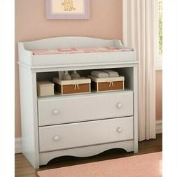 South Shore Heavenly 2-Drawer Classic Pure White Changing Ta