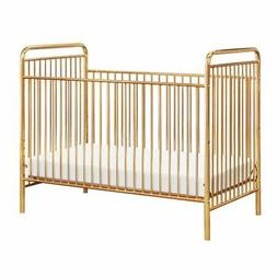 Babyletto Jubilee 3-in-1 Convertible Metal Crib in Gold