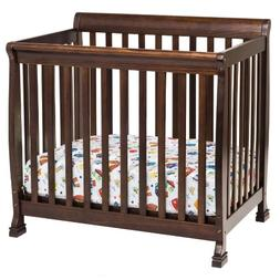 DaVinci Kalani 2-in-1 Mini Crib and Twin Bed In Espresso Fin