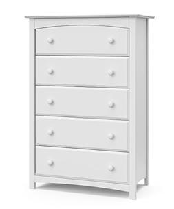 Kenton 5 Drawer Dresser, White