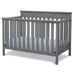 Delta Children Kingswood 4-in-1 Convertible Baby Crib, Grey