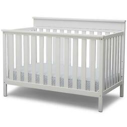 Delta Children Kingswood 4-in-1 Convertible Baby Crib, Bianc
