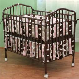 L A Baby Portable Crib Chocolate