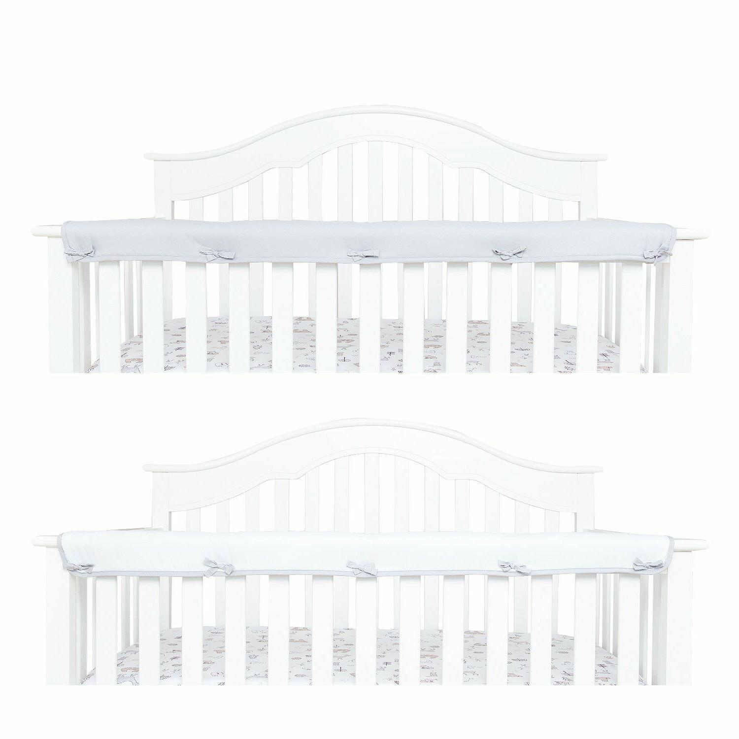 1 Pack Padded Baby Crib Rail Cover Protector Safe Teething G