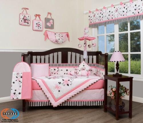 13PCS Pink Baby Bedding Sets Special