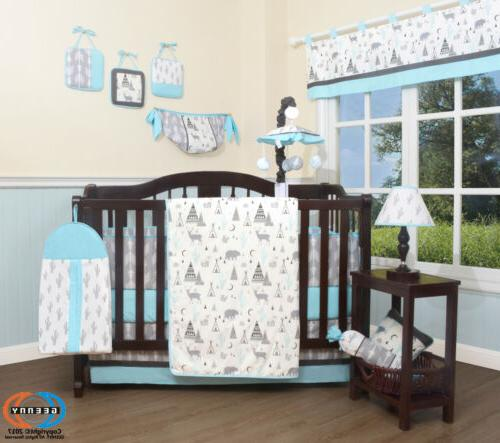 13pcs new woodland forest deer baby nursery
