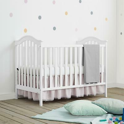 Convertible Baby Crib to Daybed Nursery Sleeping 2-in-1 Bed