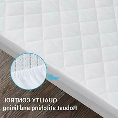 2 Pack Waterproof Crib Mattress Quilted Baby Mattress Cover,