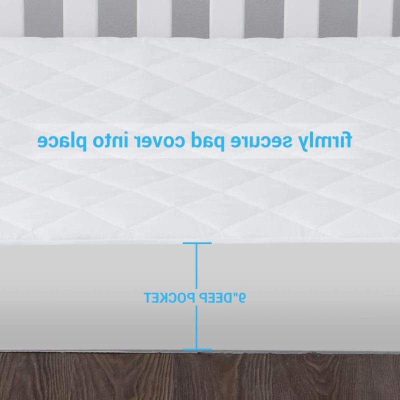 2 Pack Waterproof Mattress Quilted Fitted Baby Mattress