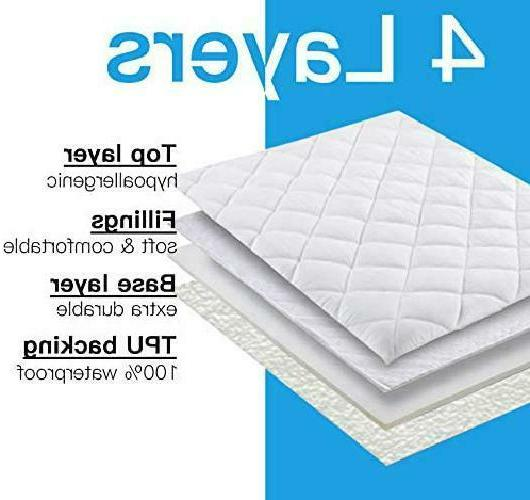 2 Pack Mattress Quilted Fitted Baby Cover, E
