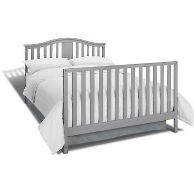 4 Convertible Baby Crib Mattress Toddler Newborn GRAY