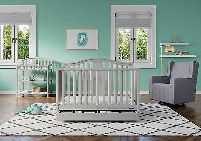 4 Baby Toddler Bed Nursery Newborn GRAY