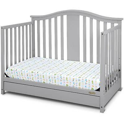4 in 1 Convertible Baby Crib Mattress Toddler Bed Newborn GRAY