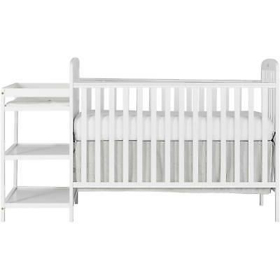 4-in-1 Crib, Changer, Toddler Bed W/ Teething Rails