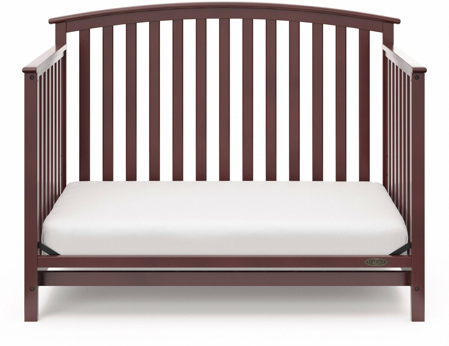 4 Wooden Crib Bed and Bedroom