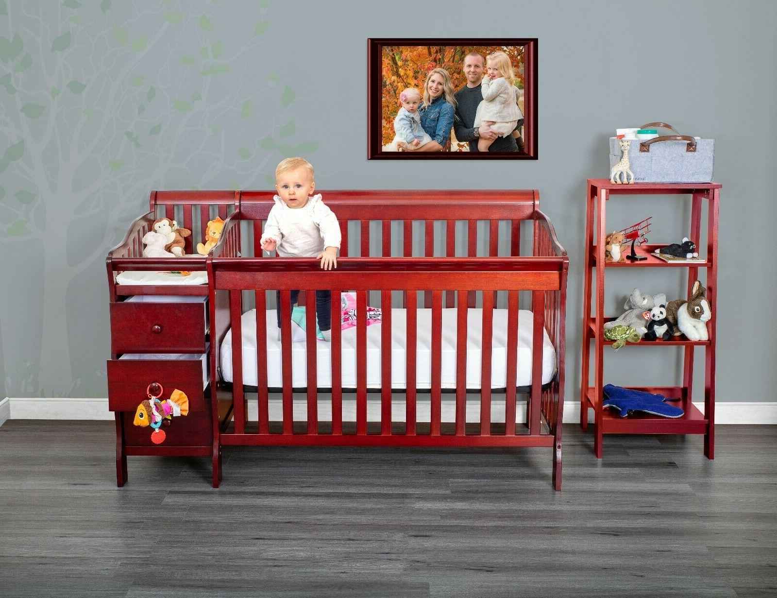 5 in 1 full crib and baby