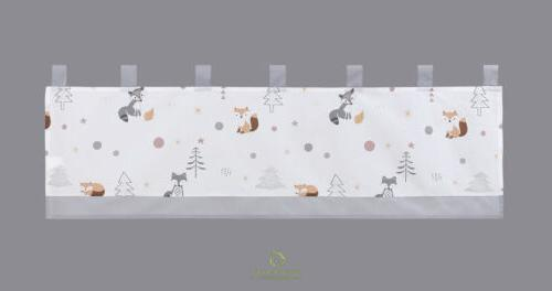 6-Piece Forest Fox Grey Baby Crib By OptimaBaby