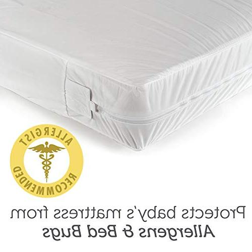 Sealy SafetyCase Protective Zippered Crib Mattress Encasemen