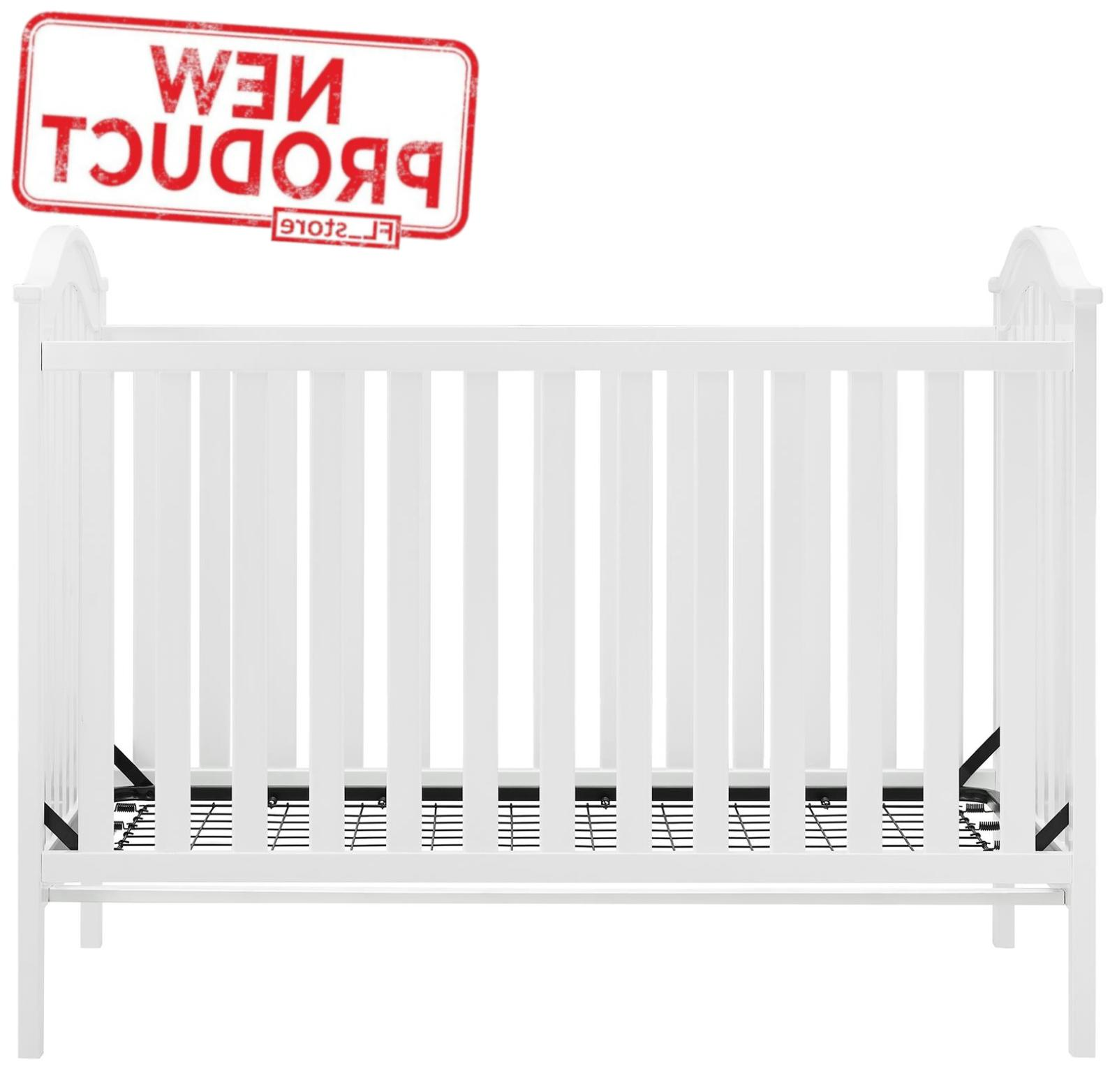 adelyn 2 in 1 convertible crib white