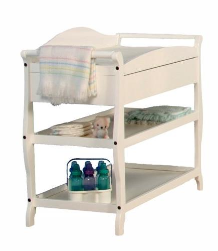 Stork Craft Aspen Table with Drawer, White