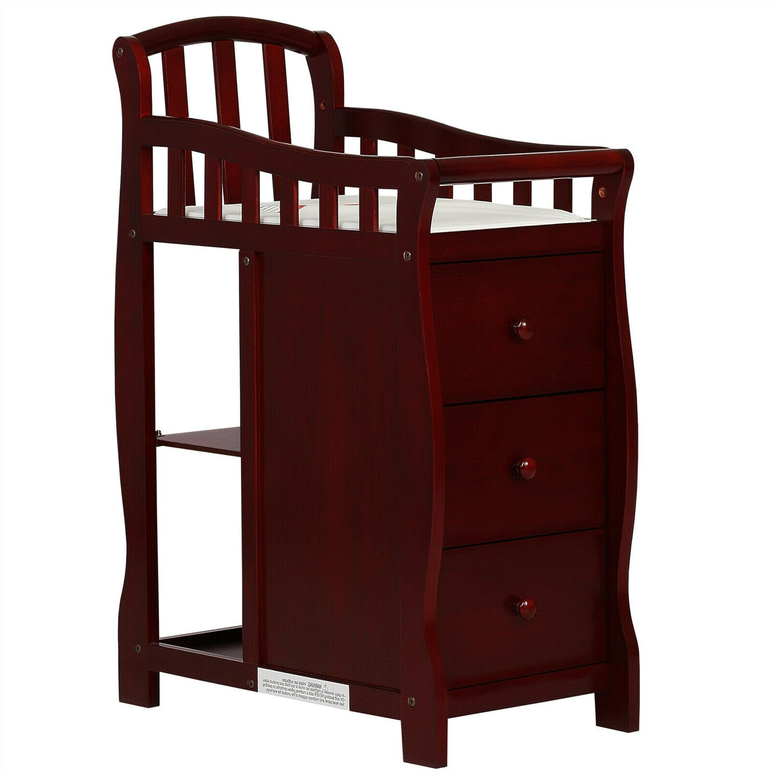 Baby Bed 4-in-1 Crib Dressing Cherry