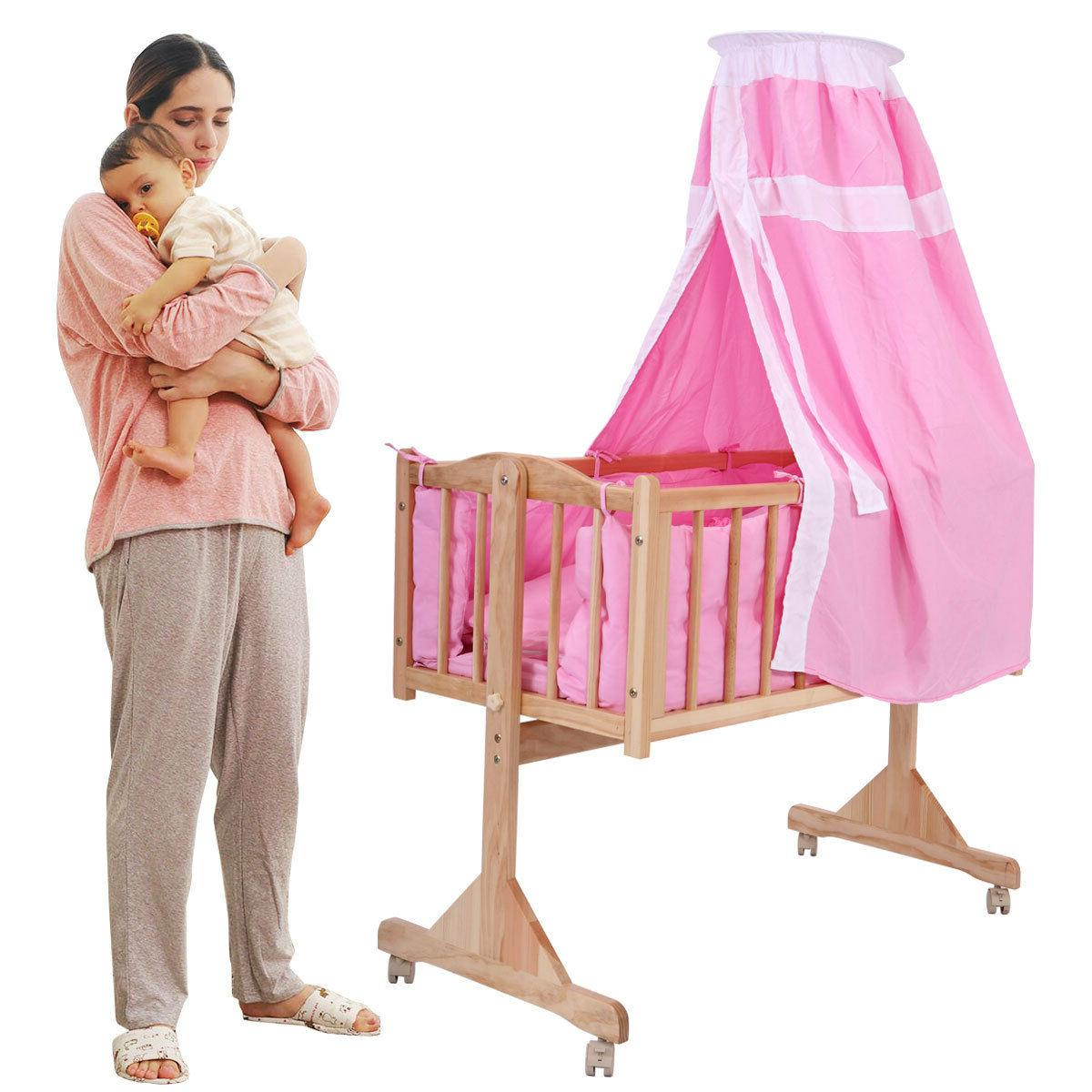 Baby Side Bed Furniture W/Canopy