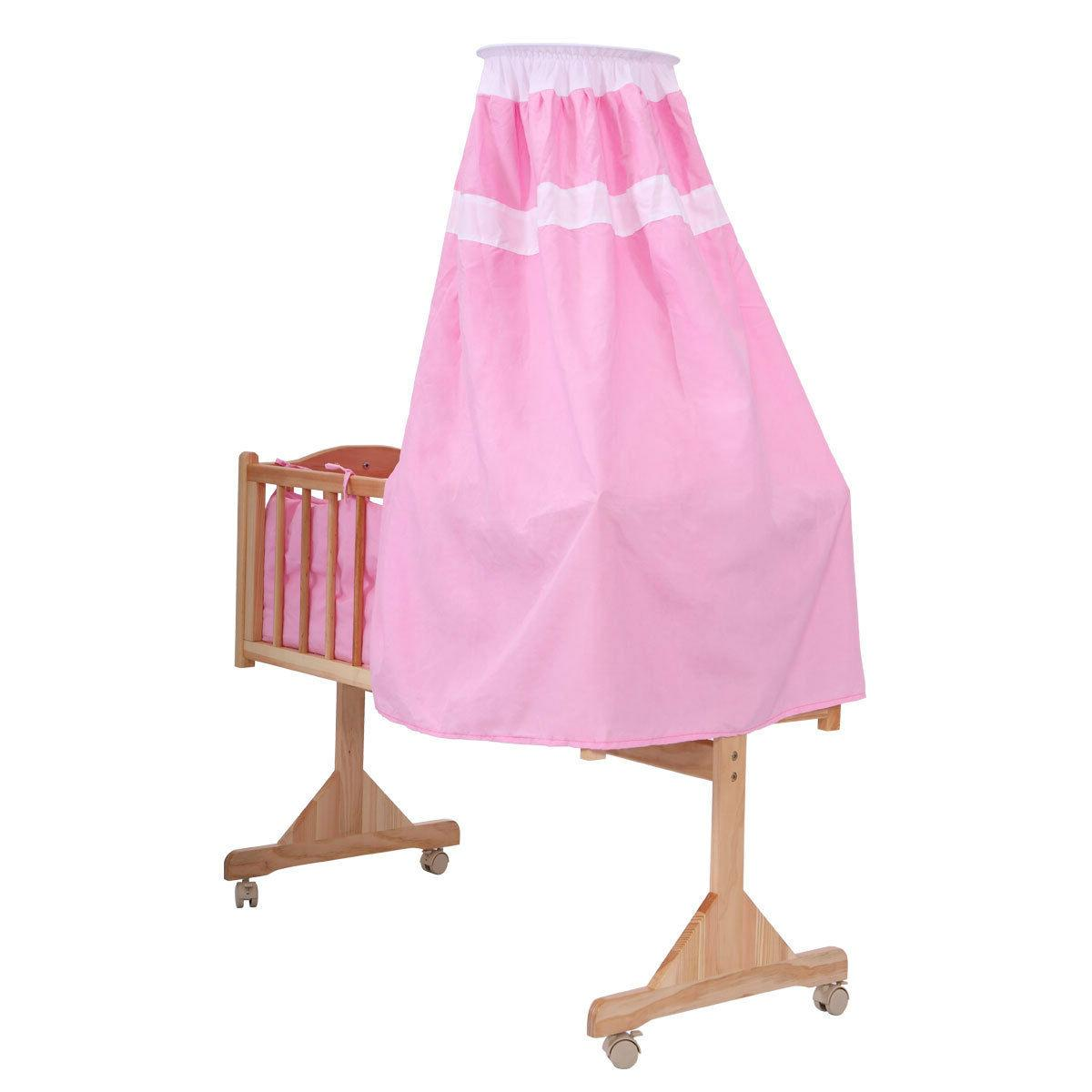 Baby Side Bed Furniture W/Canopy Pink