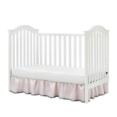Baby Convertible Crib White 2-in-1 Infant Daybed Sleeper Bed