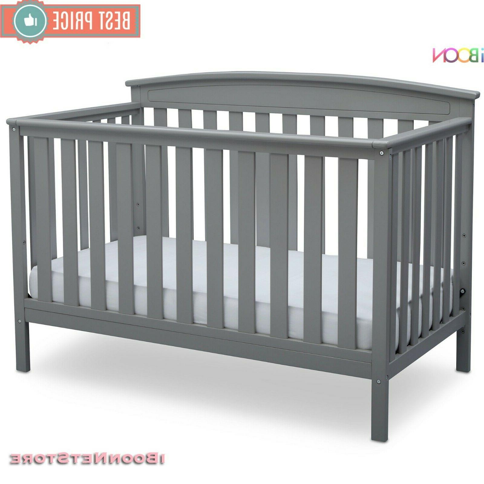 Adjustable Crib 4 in Convertible Wood Convert to BED