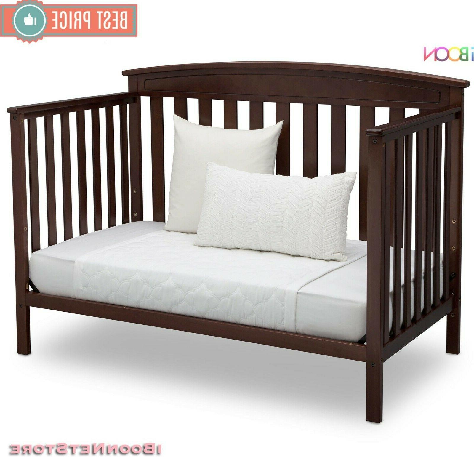 Adjustable Crib 4 in 1 Wood BED Colors