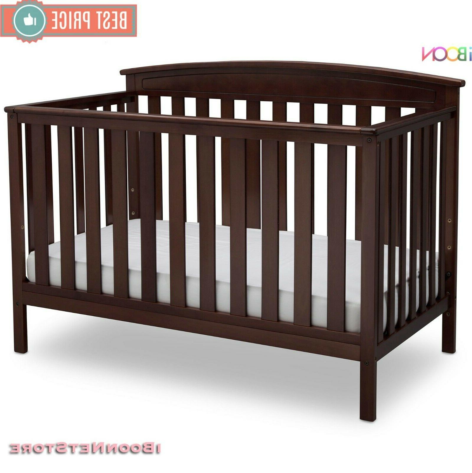Adjustable Baby in Convertible Wood Convert Toddler BED Colors