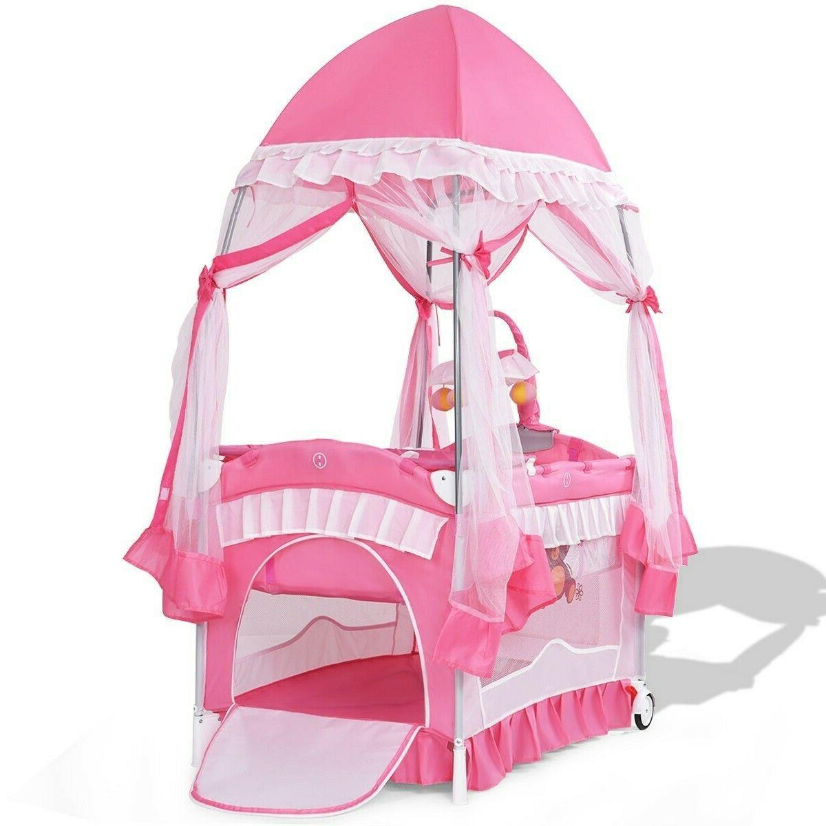 Baby Furniture Infant Portable Bed Newborn Pink
