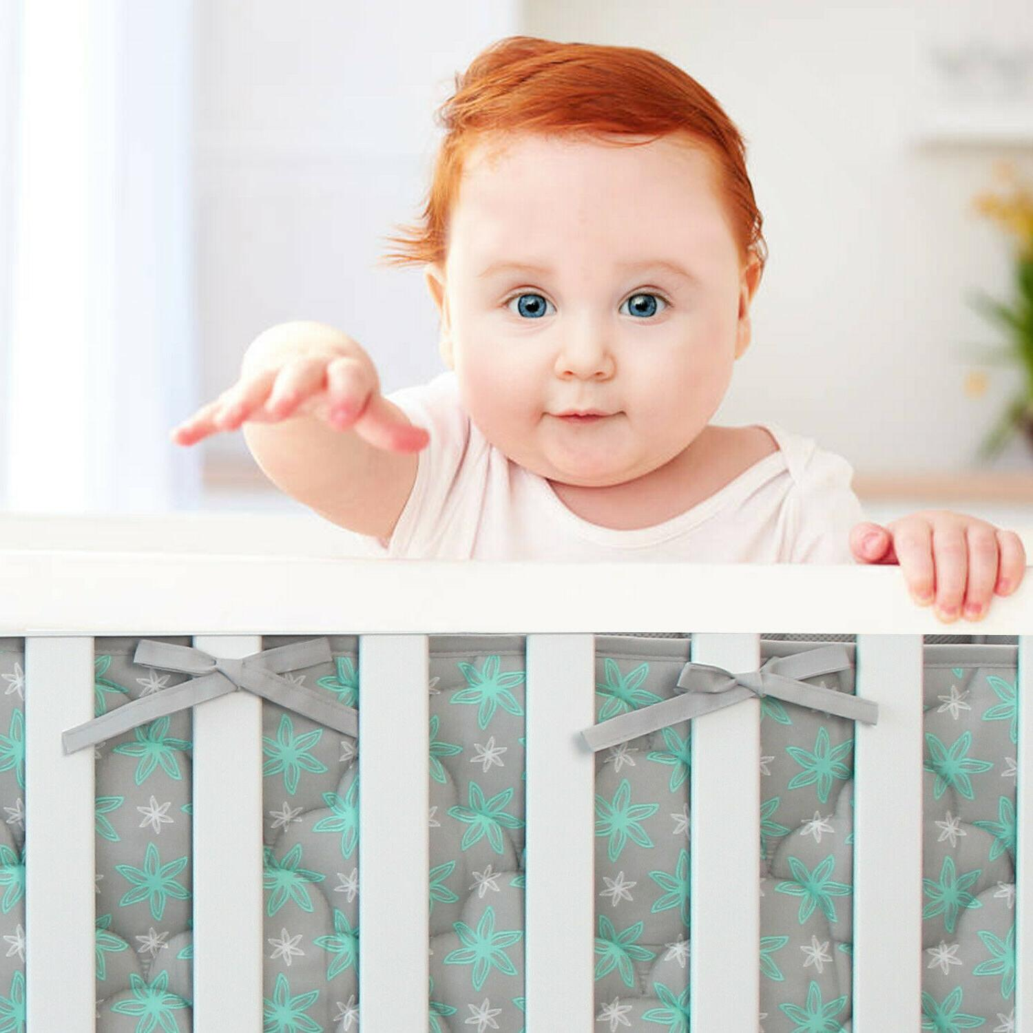 Baby Crib Pads Breathable Safe 4PCs