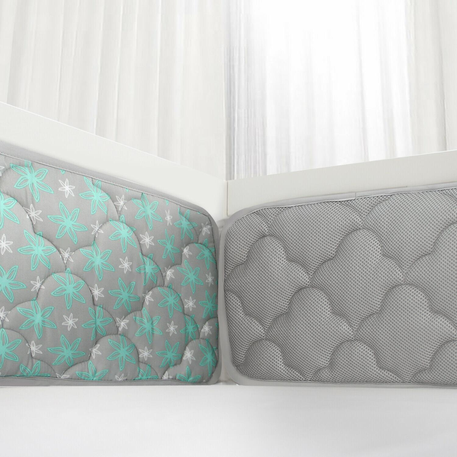 baby crib bumper pads breathable for standard