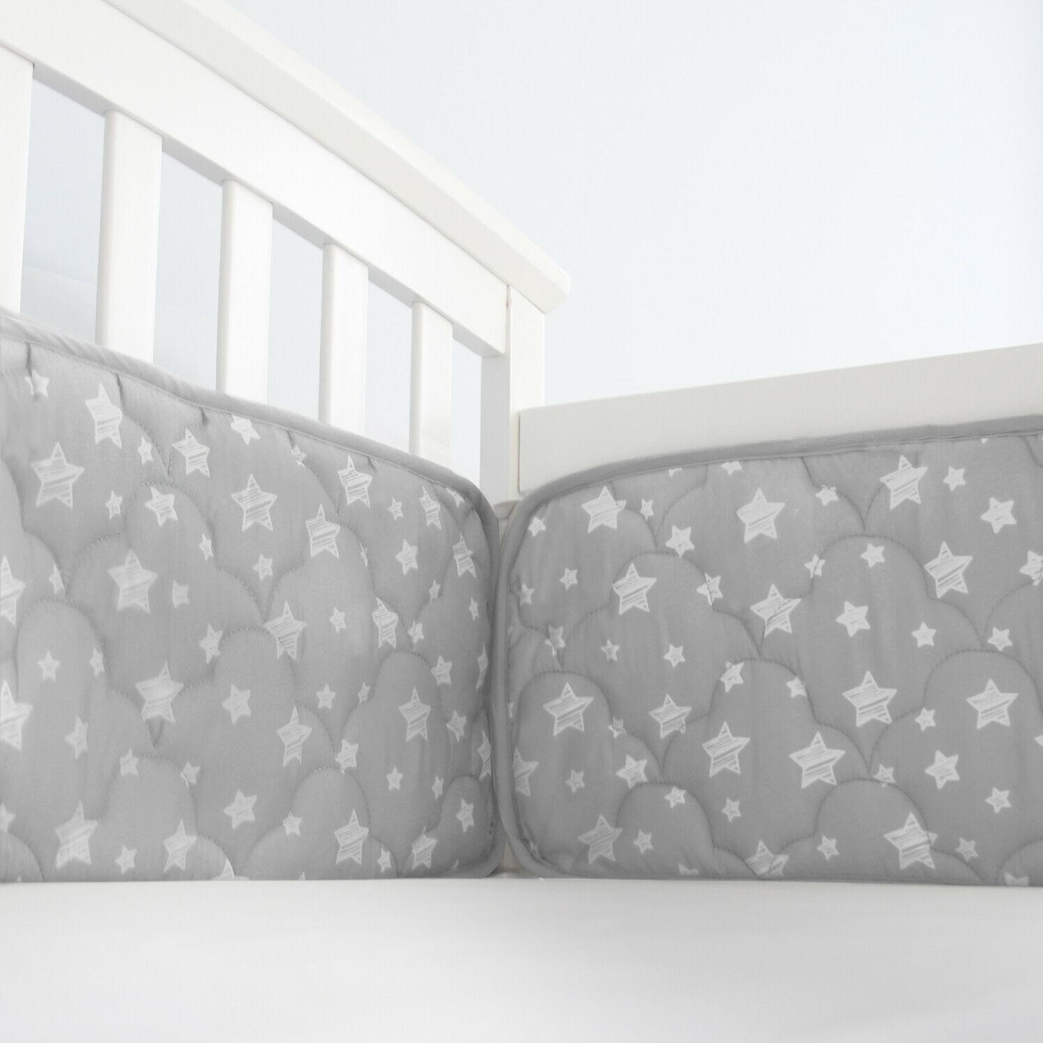 "Baby Crib for Cribs Star Pattern Gray 4PCs 52""x28"""