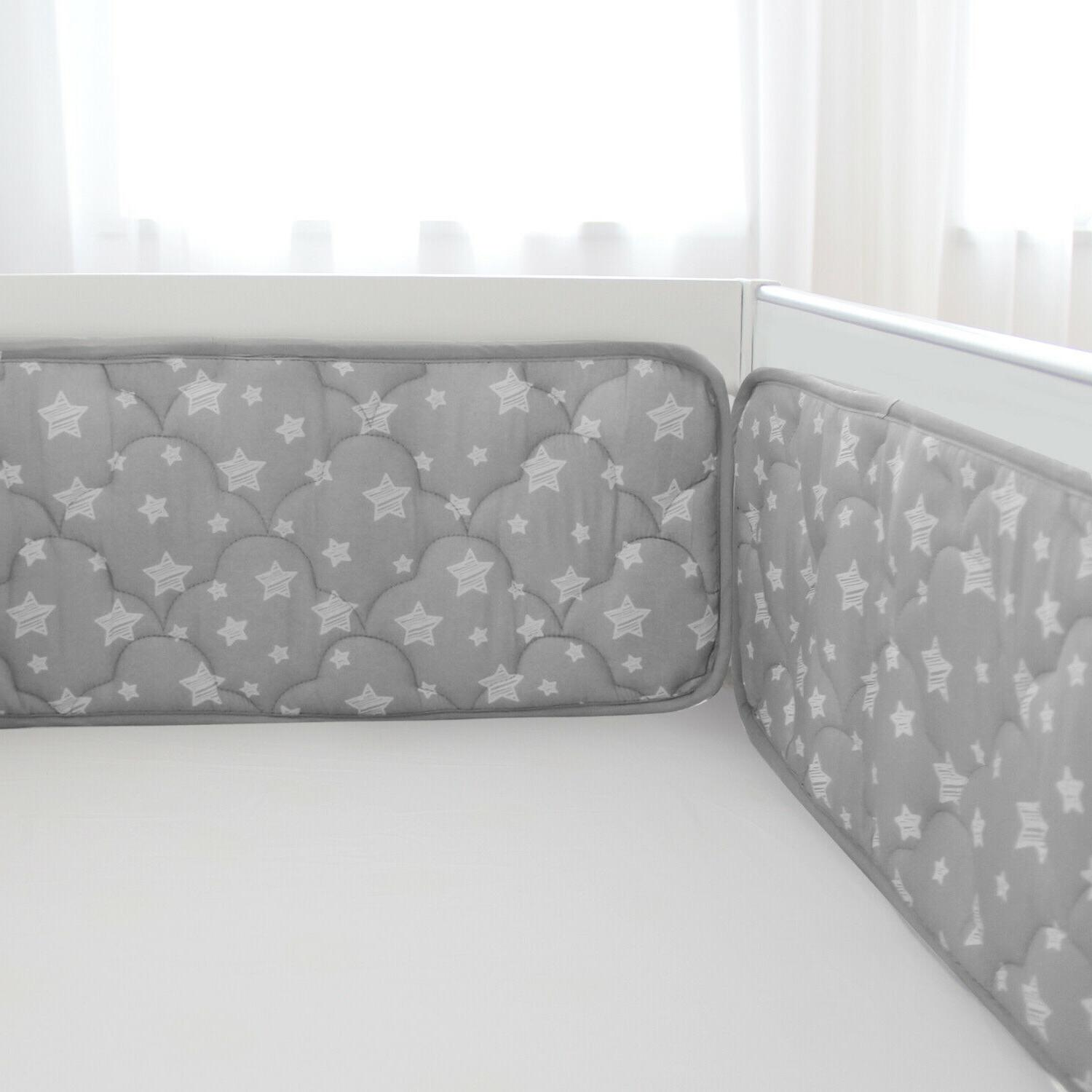 "Baby Crib Bumper for Standard Star 52""x28"""