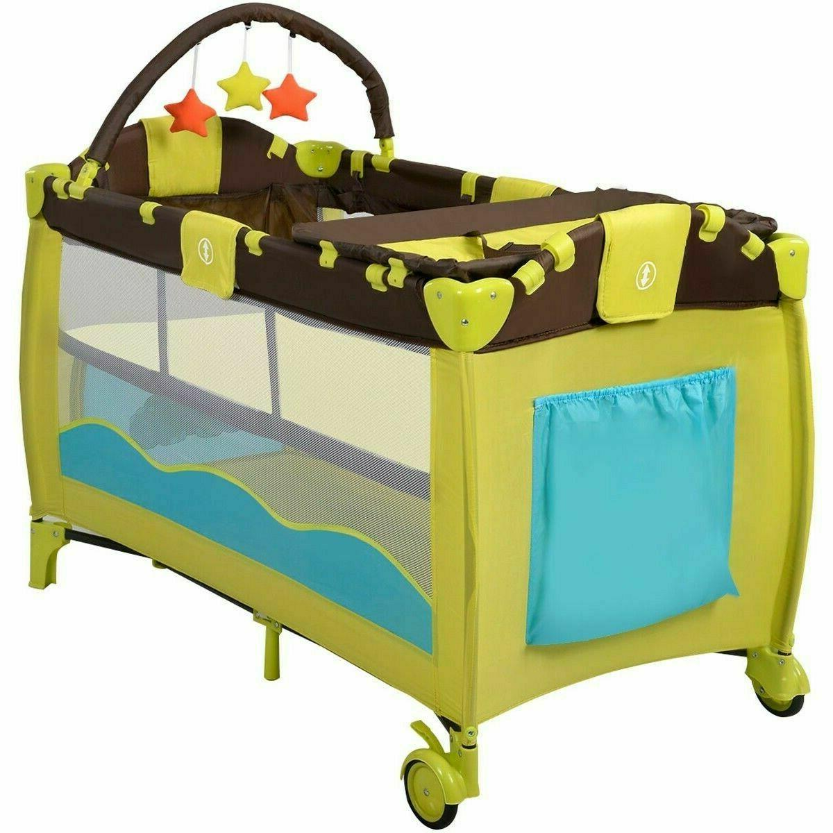 Baby Infant Nursery Playard Bed Mattress Colors