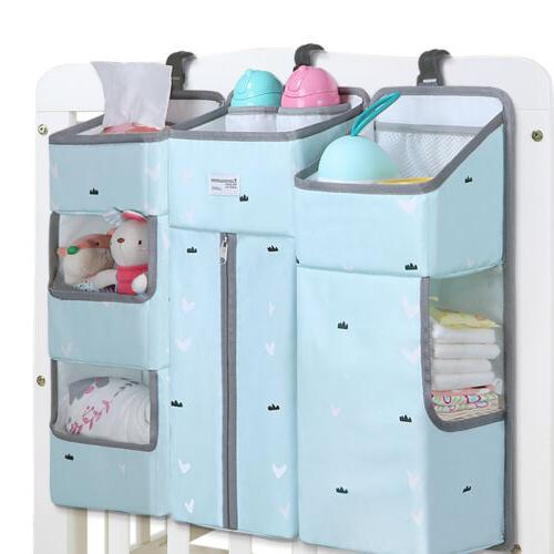 Hanging Diaper Caddy Crib Nursery Organizer Stacker Storage