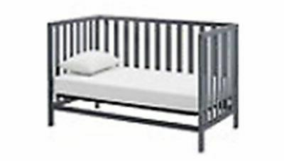 Baby Bed in Convertible Gray Child Daybed Wood