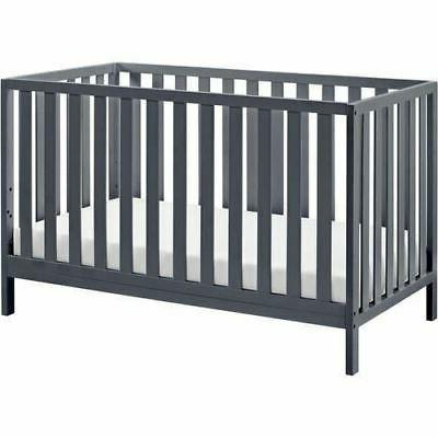 Baby Bed in Convertible Gray Child Sleeper Daybed Wood