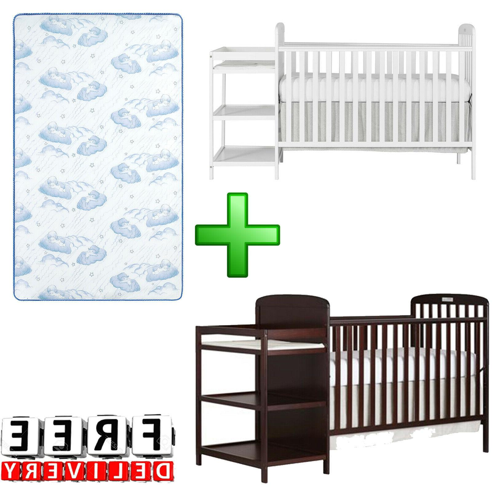 baby crib with mattress 4 in 1