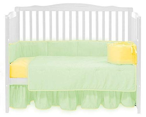 baby doll solid reversible crib
