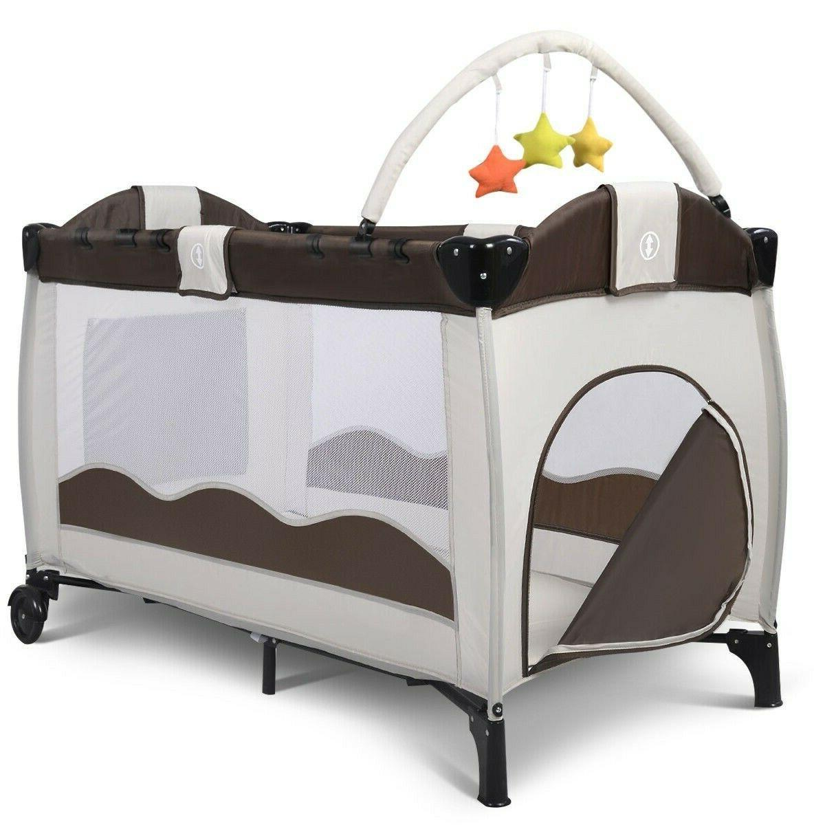 Baby Bed Crib Bassinet Playpen Table