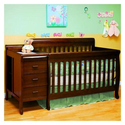 baby furniture convertible crib and changer expresso