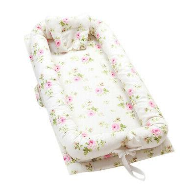 Baby Nest Floral Baby Bassinet Cribs Portable Baby Cot Bed f
