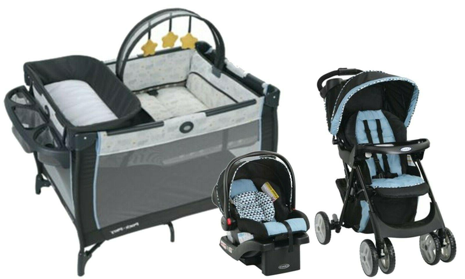 Graco Baby Travel System with Seat Playard Crib Bag Combo