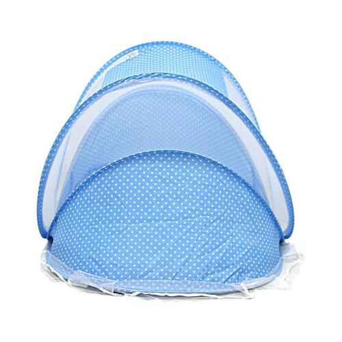 Blue Foldable Mosquito Net Travel Tent Cradle -XU01